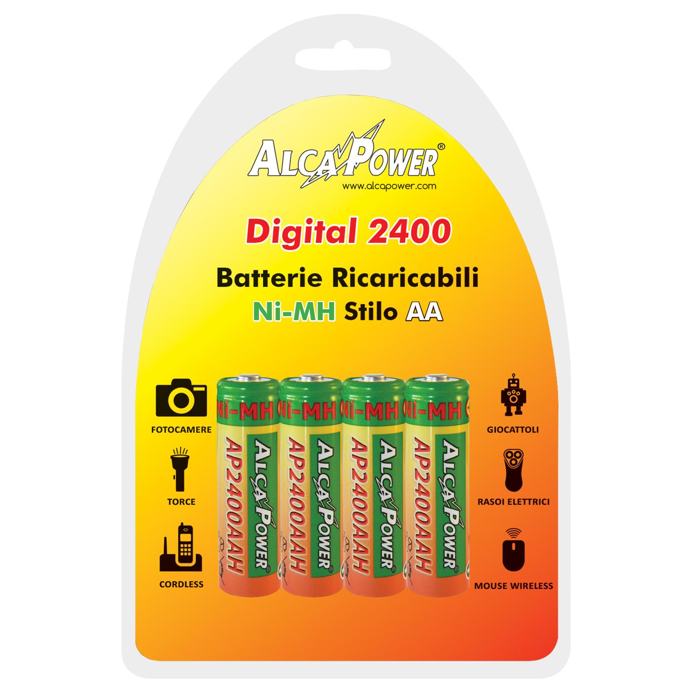 Blister di 4 NI-MH AA 1.2V Digital 2400