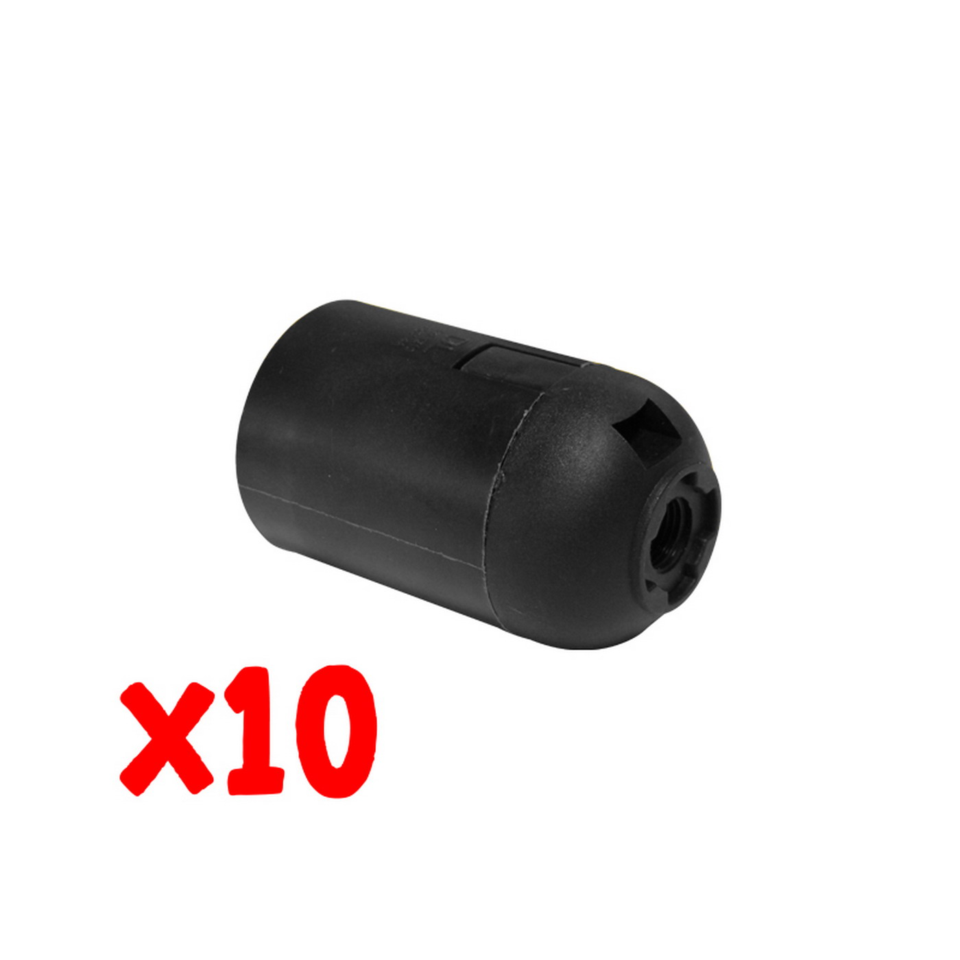 Blister 10 pz Portalampada nero E27